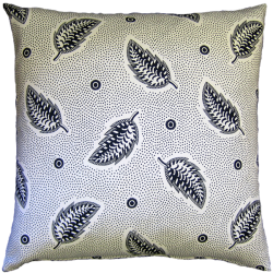 cushion_-_stripey_leaf_black