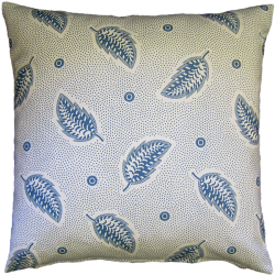 cushion_-_stripey_leaf_blue