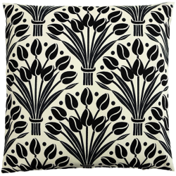 cushion_-_tulips_black