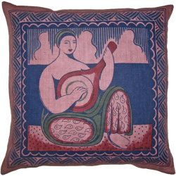 cushion_-_woman_and_mandolin_plum