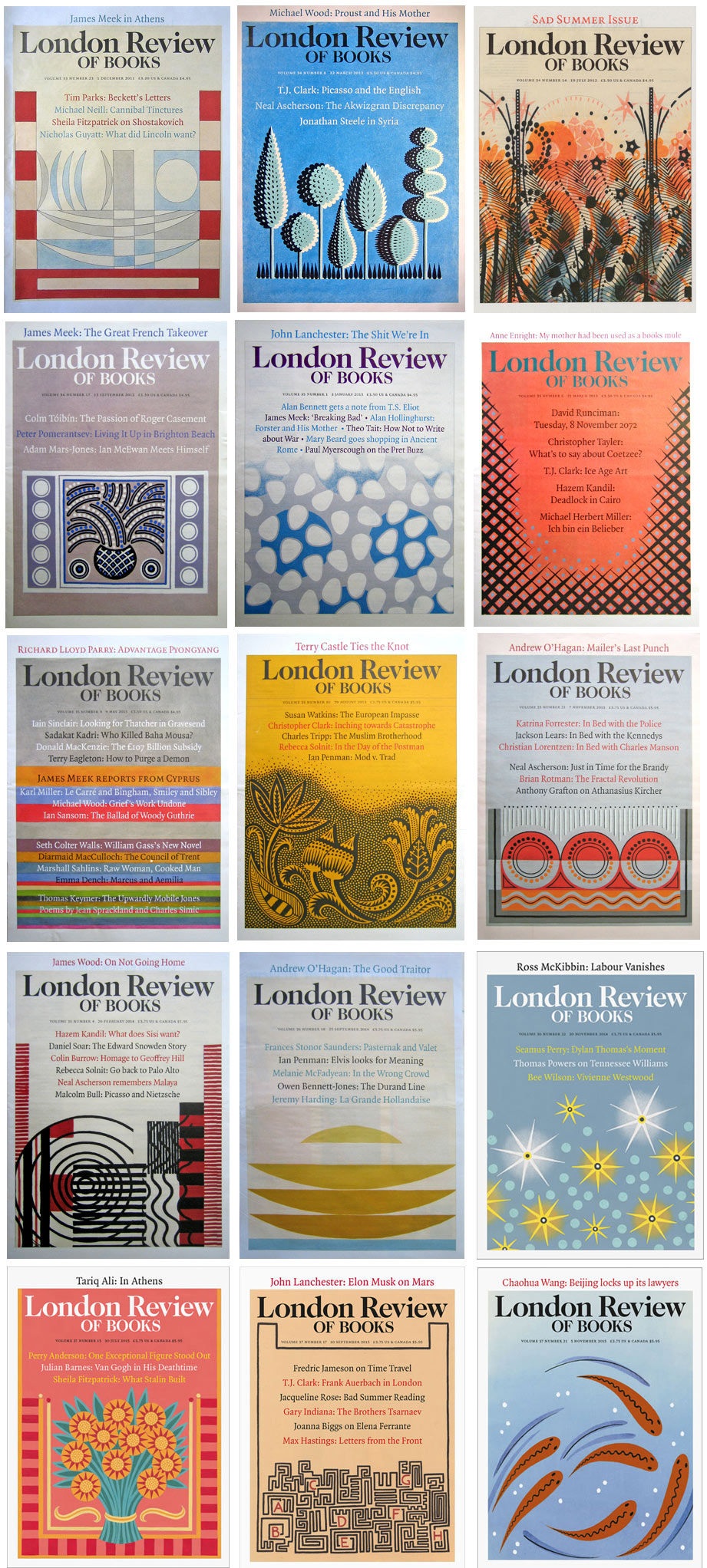 London Review of Books cover images